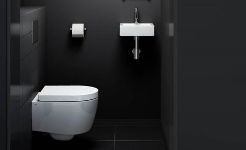 Vuilafstotende laag bij toiletten