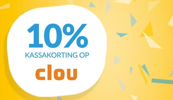 10% kassakorting op Clou