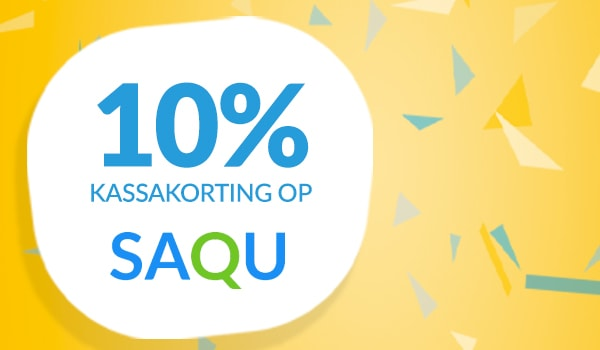 10% kassakorting op Saqu
