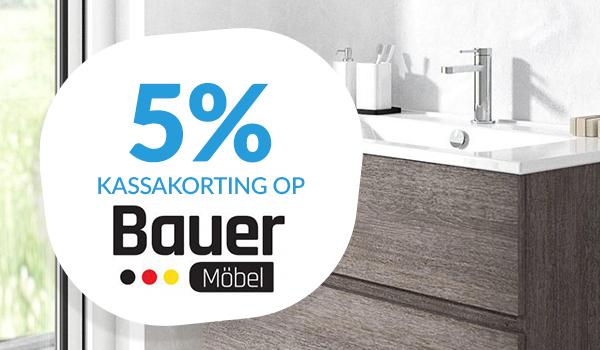 5% kassakorting op Bauer Möbel