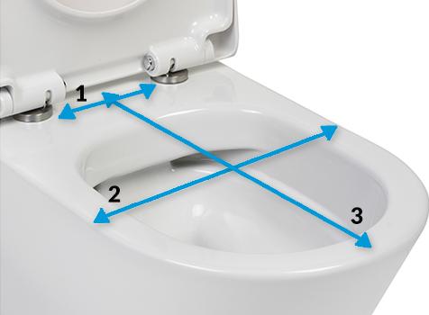 De maten van je toilet
