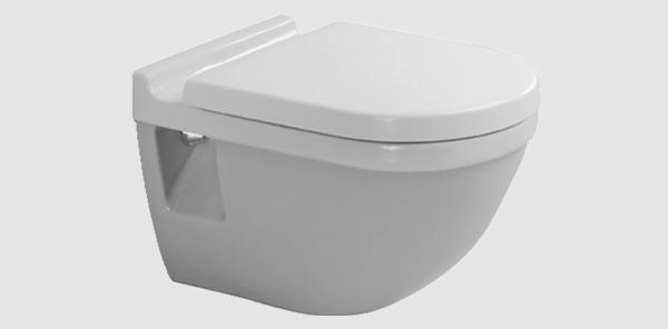 Toilet zonder verdekte bevestiging