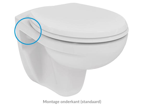 Montage toiletbril onderkant