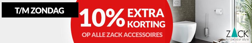 10% korting op ZACK accessoires