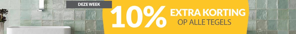 10% korting op alle tegels