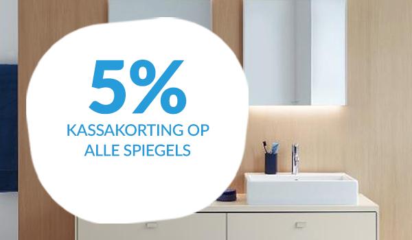 5% kassakorting op spiegels