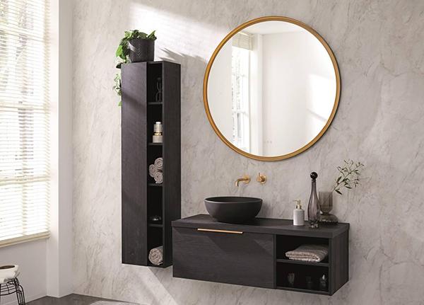 Ronde spiegel goud