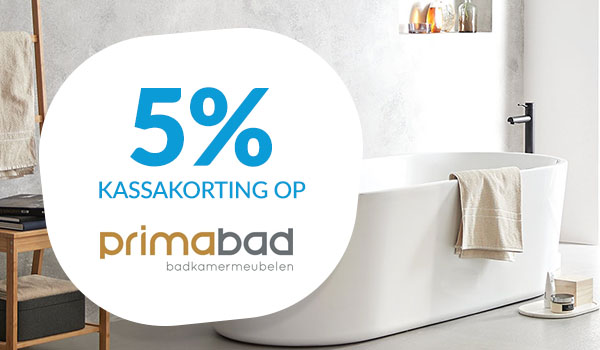 5% kassakorting op Primabad