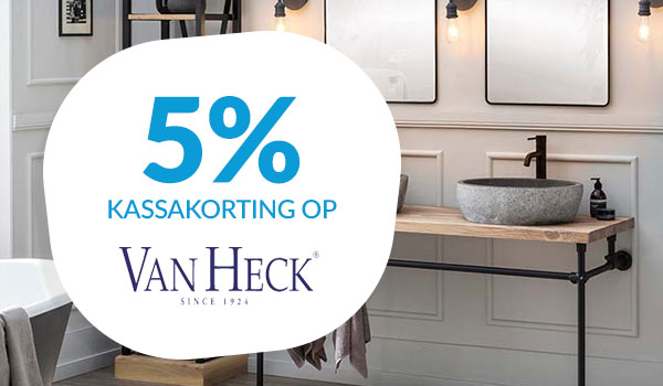 5% kassakorting op Van Heck