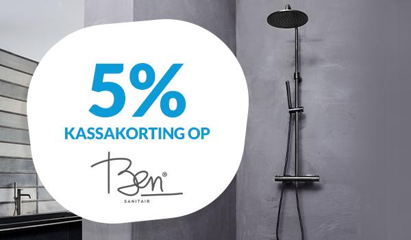 5% kassakorting op Ben